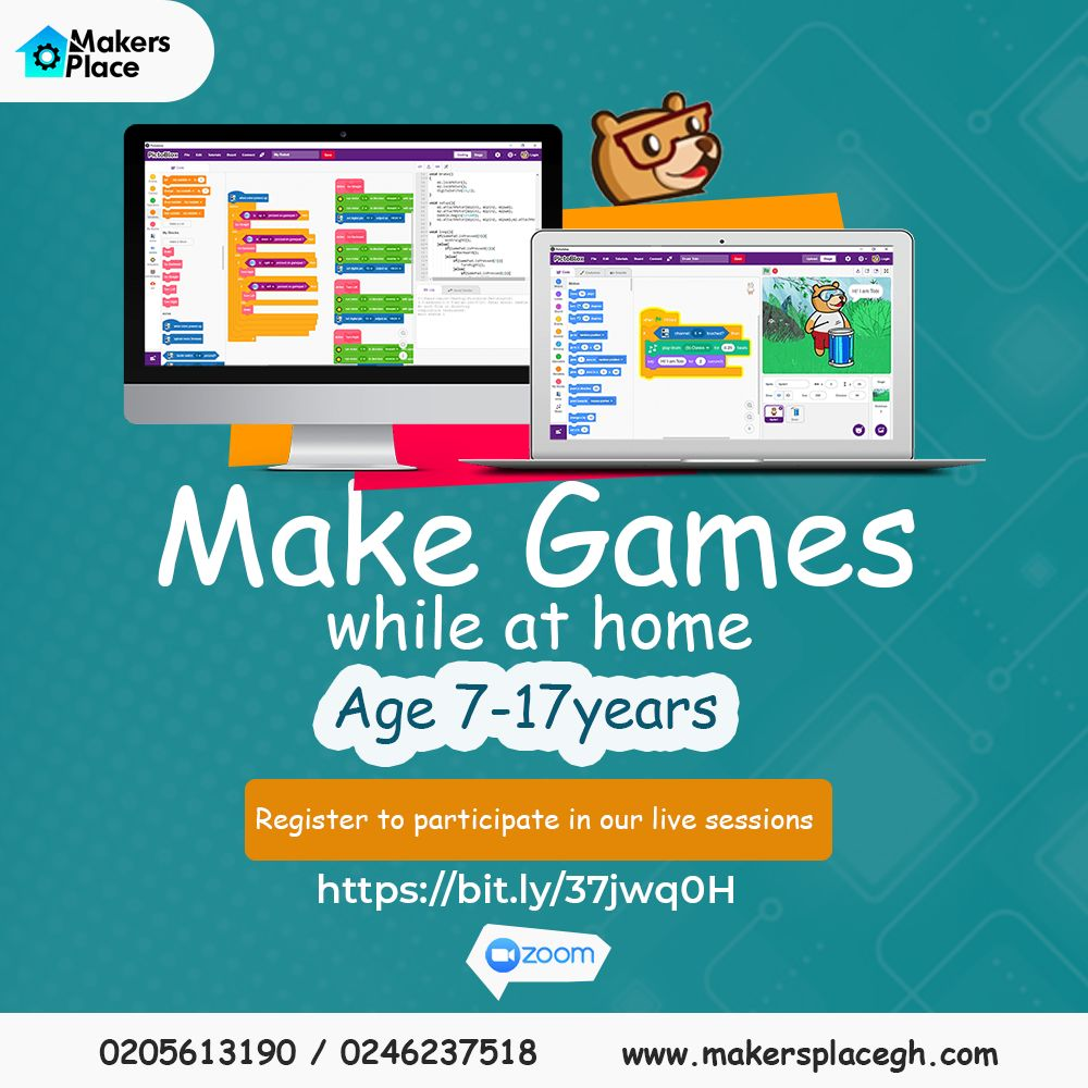Make Games whiles at Home - MakersPlace