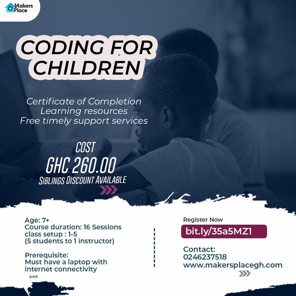 Makersplace Kids Training in Coding